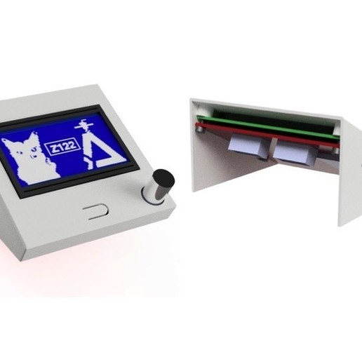 Download free STL files Single part case 12864 LCD Full Graphic Smart Display, Z122