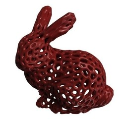 Download free STL file 30 mm height Stanford Bunny Voronoï - for retractation test • Model to 3D print, Z122