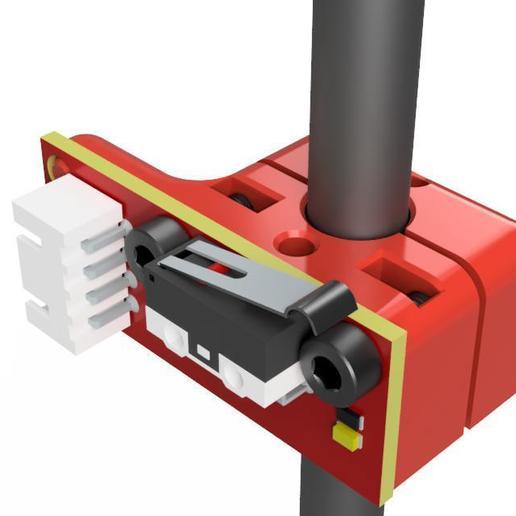 Descargar Modelos 3D para imprimir gratis Soporte y abrazadera del microinterruptor de fin de carrera para varilla de 8 mm, Z122