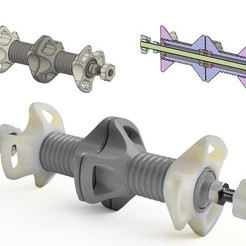 Descargar STL gratis Remix - Soporte de doble bobina con tubos centrales para rodamientos, Z122