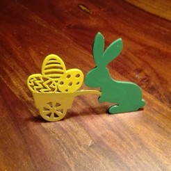 3d printer designs Easter bunny with trolley, Bajmb