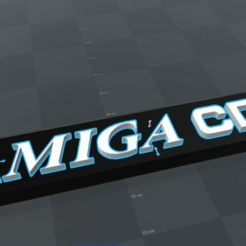 preview3.png Download free STL file Logo Commodore Amiga CD 32 • 3D printing object, syntonia