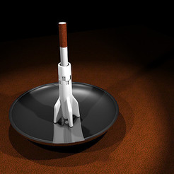 Download STL files V2 Rocket Cigarette Stubber, industrialpunk