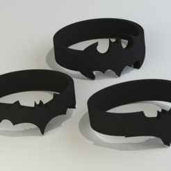 batman rings2.png Download STL file Batman Rings (sizes US 6 - 12)  • Object to 3D print, Endless3D