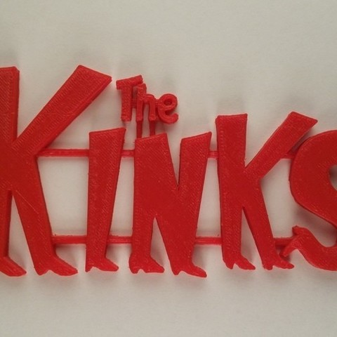 kinks.jpg Download STL file 60's Band Logos (Bundled Deal) • 3D print template, Endless3D