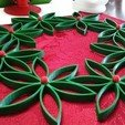 Free 3D printer model Christmas Flower with Seperated Center Ball, Endless3D
