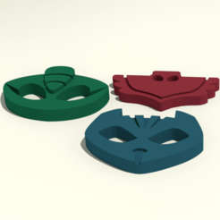 pjmasks.png Download STL file PJ Masks Emblems • 3D printable object, Endless3D
