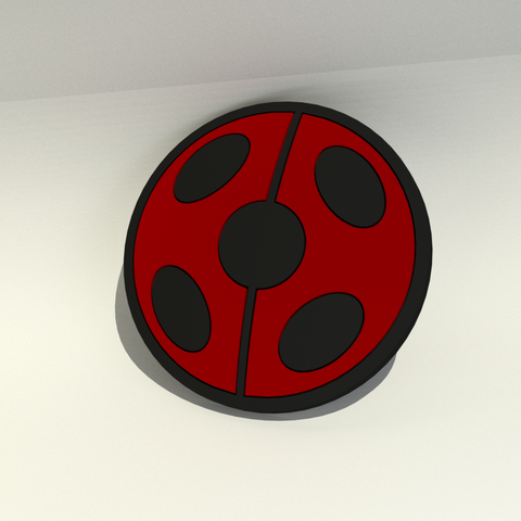 miraculous ladybug.png Download STL file Miraculous Ladybug logo • Design to 3D print, Endless3D