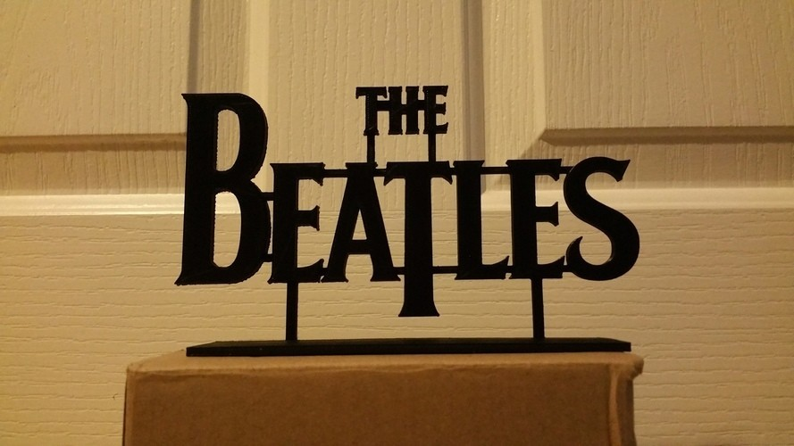 beatles.jpg Download STL file 60's Band Logos (Bundled Deal) • 3D print template, Endless3D
