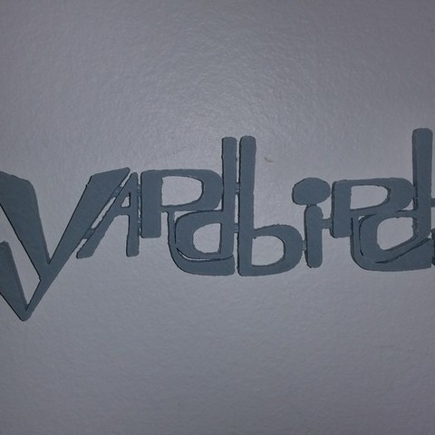 yardbirds.jpg Download STL file 60's Band Logos (Bundled Deal) • 3D print template, Endless3D