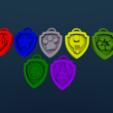 Download STL file Paw Patrol Badges (Updated July '19) • 3D printer model, Endless3D