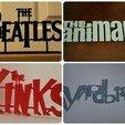 Download 3D printing models 60's Band Logos (Bundled Deal), Endless3D