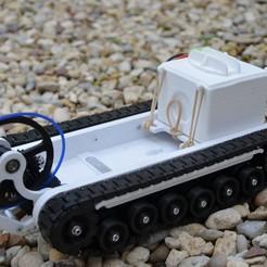 Chenillette 117.JPG Télécharger fichier STL gratuit Mini chenillette / track vehicle model • Modèle à imprimer en 3D, Hagar
