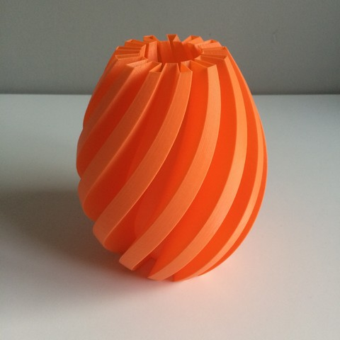 Download free STL file Flexi Vase # 001 • Object to 3D print, OLBA3D