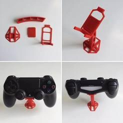 Descargar Modelos 3D para imprimir gratis 4 Part Dualshock Support, OLBA3D