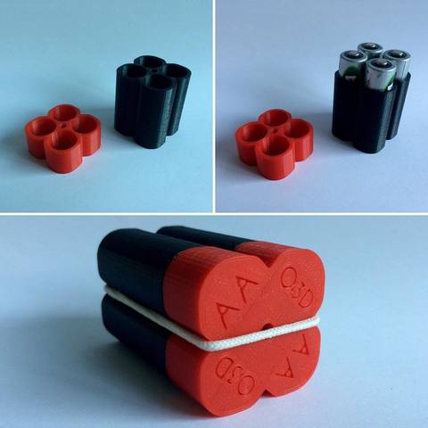 Download free STL file AA Battery Holder O3D • 3D printer model, OLBA3D