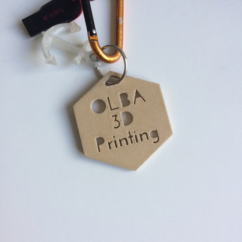 Download free STL file OLBA 3D Printing Keychain • 3D printer object, OLBA3D