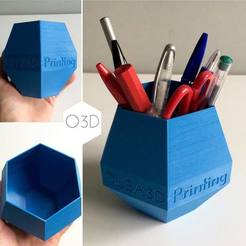 Download free STL file OLBA 3D Printing Pen / Pencil Holder • 3D printing design, OLBA3D