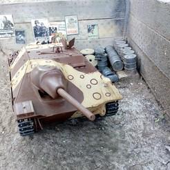 Download 3D printing templates Jagdpanzer 38(t) Hetzer scale 1/16 - 3D printable RC tank model, 50koruny