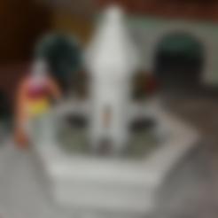 fontaine-1-sans socle diam11.stl Download STL file Fountain for Provençal crèche. • 3D printer design, Alienmaker