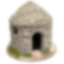 borie-mod1-50x50.stl Download STL file Borie -1. Dry stone hut for Provençal creche • 3D print model, Alienmaker