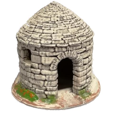 Borie-mod1.png Download STL file Borie -1. Dry stone hut for Provençal creche • 3D print model, Alienmaker