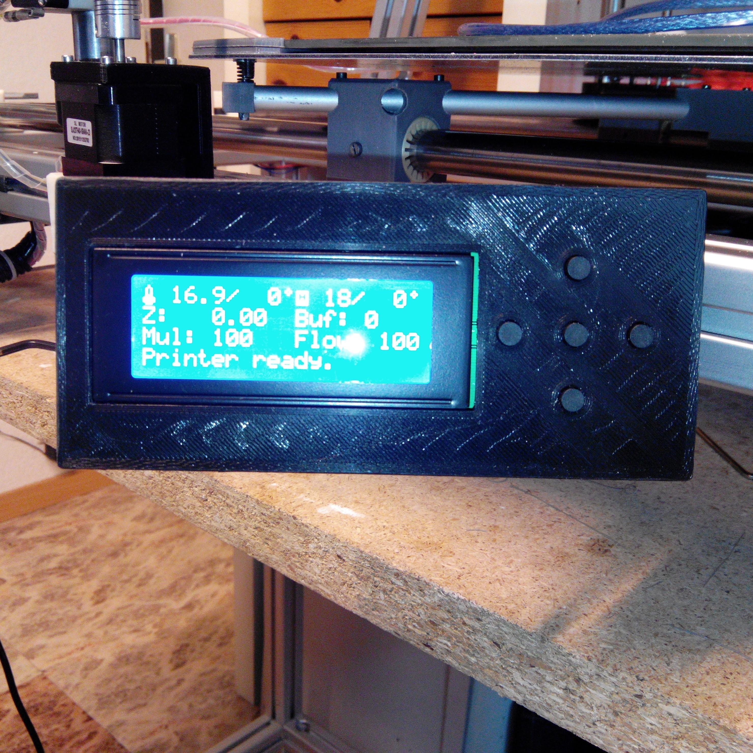 boitier face avant.JPG Download free STL file Display case Prusa I3 • 3D printer model, Alienmaker