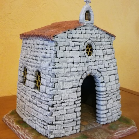 IMG_20170415_200257.jpg Download STL file Chapel for Provencal Creche • 3D printer object, Alienmaker