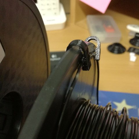 Free 3D printer files Printer filament clip diameter 1.75 mm, Alienmaker