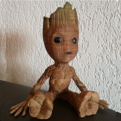 Free STL Baby Groot, Alienmaker