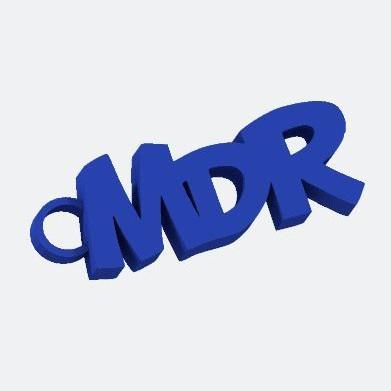 porte clé MDR LaPoste Impression 3D Fichier 3D.jpg Download free STL file Keyring MDR • 3D printable design, Design3dLaPoste