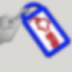 Free stl Keychain stamp, Design3dLaPoste
