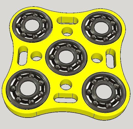 spinner quatro 80x80.JPG Download free STL file Hand Spinner 3D La Poste • 3D printing object, Design3dLaPoste