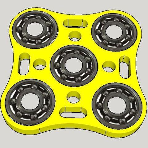 Free stl Hand Spinner 3D La Poste, Design3dLaPoste