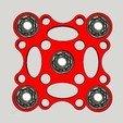 Download free 3D printing files Hand Spinner Quatro La Poste, Design3dLaPoste