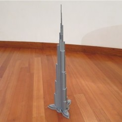 Download free STL files Burj Khalifa, Chrisibub
