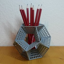 20170216_164418.jpg Download free STL file Dodecahedron Pencil Holder • Design to 3D print, Chrisibub