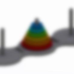 Towers_of_Hanoi_Bottom_Plate.stl Télécharger fichier STL gratuit Tours de Hanoi • Design pour imprimante 3D, Chrisibub