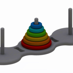 Download free STL file Towers of Hanoi • 3D printer object, Chrisibub