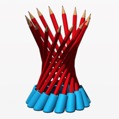 Download free STL file Hyperboloid Pencil Holder • 3D printer design, Chrisibub