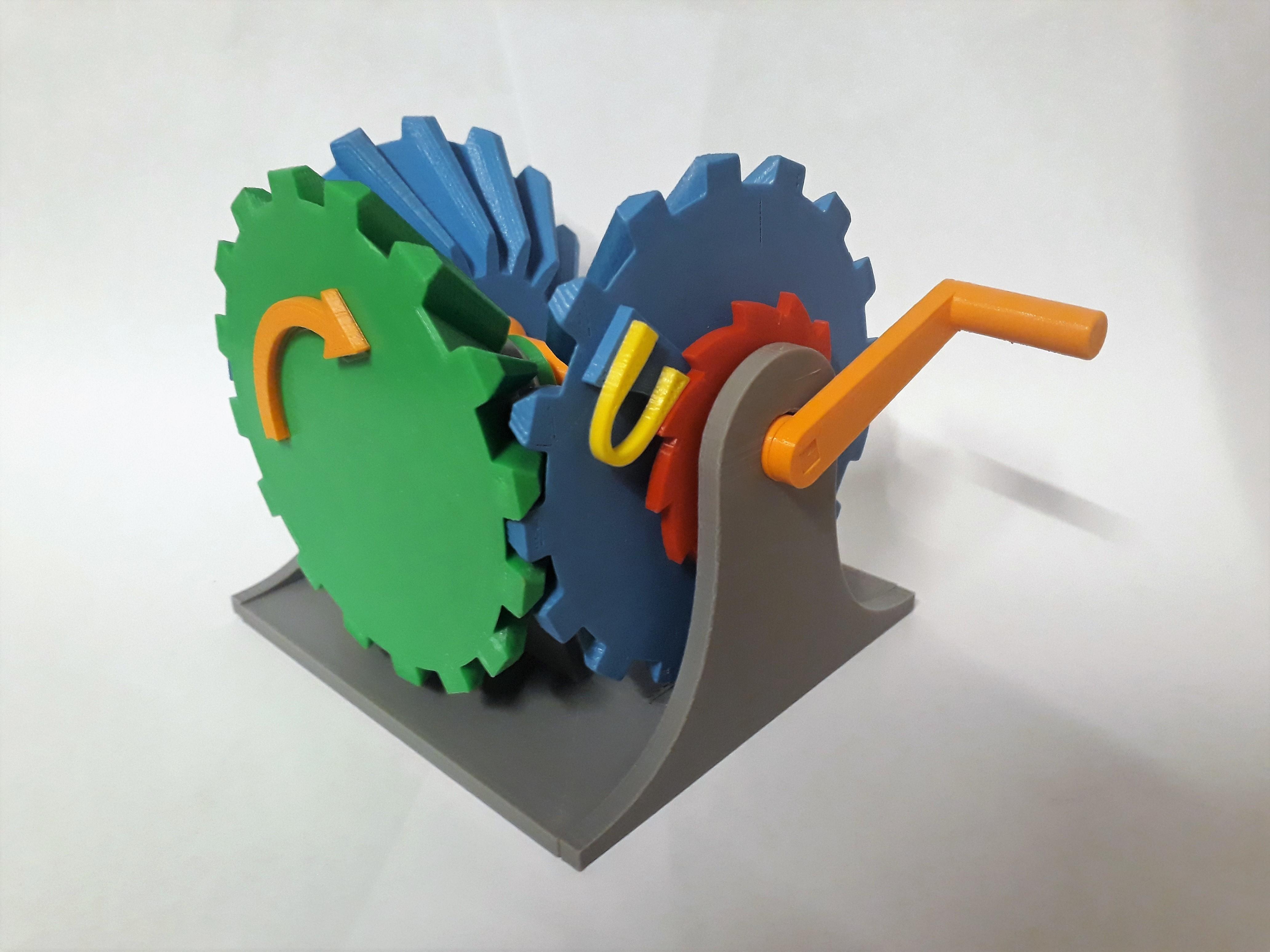 Clockwise Mechanism Connecting 9.jpg Download STL file Clockwise Mechanism • 3D printer model, Chrisibub