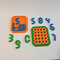 20200527_193302.jpg Download STL file Maths Number Puzzle • 3D print model, Chrisibub