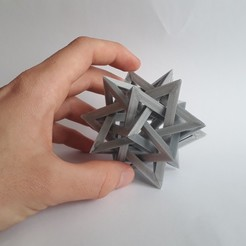 20200212_084435.jpg Download STL file Five Intersecting Tetrahedra • Design to 3D print, Chrisibub