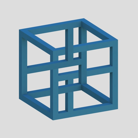 Capture d'écran 2017-04-12 à 14.49.37.png Download free STL file Impossible Cube 4 • 3D printer design, Chrisibub