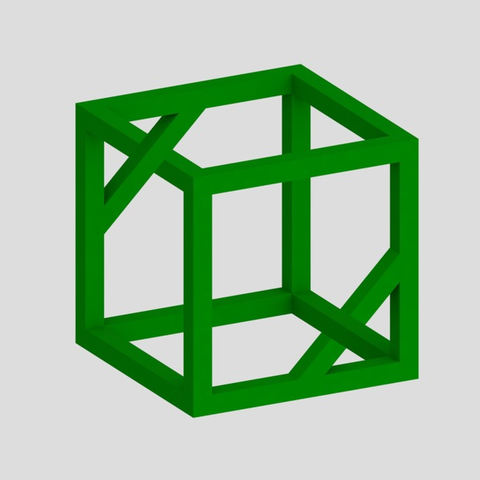Free 3d model Impossible Cube 2, Chrisibub