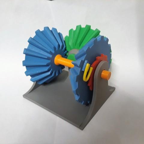 Clockwise Mechanism Connecting 7.jpg Download STL file Clockwise Mechanism • 3D printer model, Chrisibub