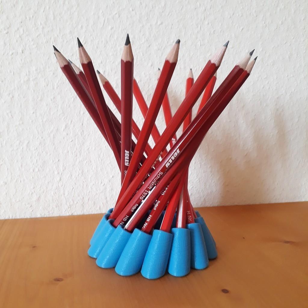 b97d81be6f1f369efd4d073fd28a0c7d_display_large.jpg Télécharger fichier STL gratuit Porte-crayon hyperboloïde • Modèle imprimable en 3D, Chrisibub