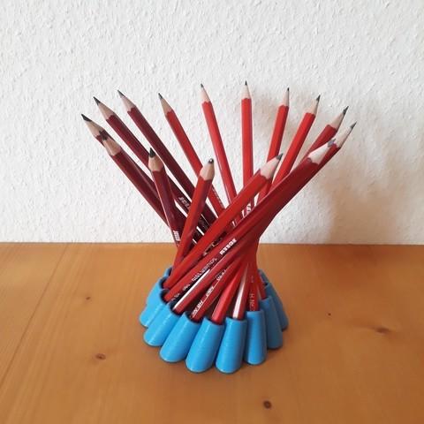 ed83d7c175547b18620774e2607af08e_display_large.jpg Télécharger fichier STL gratuit Porte-crayon hyperboloïde • Modèle imprimable en 3D, Chrisibub