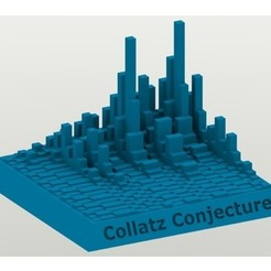 Free 3D printer designs Collatz Conjecture Towers, Chrisibub