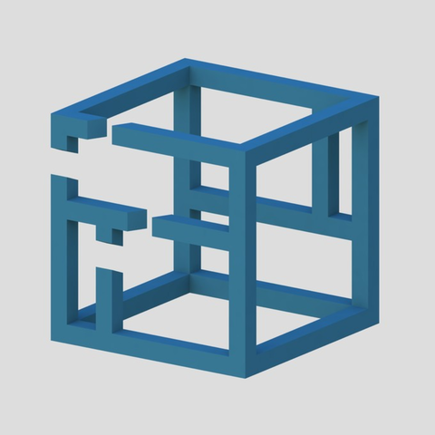 Capture d'écran 2017-04-12 à 14.49.42.png Download free STL file Impossible Cube 4 • 3D printer design, Chrisibub